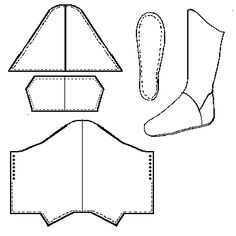 Persian boots from Footwear of the Middle Ages