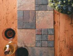 What a great use for some of the leftover tiles from my kitchen re-model!