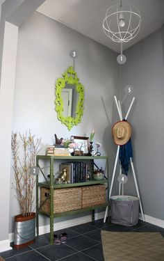 Shop the Room:  Sarah & Brian's Gray-Green Entry
