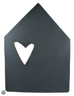 vtwonen Houten Krijtbord - Huis - 81 cm
