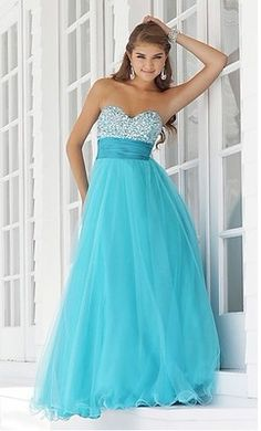 Tulle Sweetheart Blue Prom Gown Evening Formal Dress Wedding Dress US 6-16 +++
