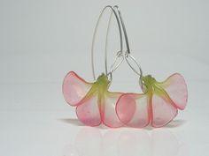 Kathrin Neumaier - Earrings Art Noveau Flower made with Pardo Professional art clay translucent