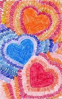Art Projects for Kids: Radiating Valentine Card