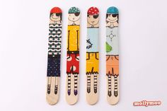 These are just the cutest Craft Stick Dolls!