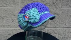 Disney Princess Ariel Inspired Youth Brimmed Hat Cap. Not a pattern
