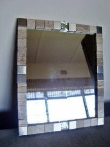 Make your own framed mirror