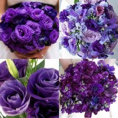 Purple Wedding Flowers!