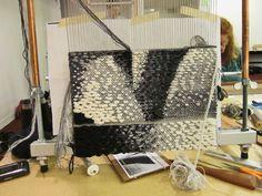 Rebecca Mezoff, Tapestry Artist  Work shown using a Mirrix Loom