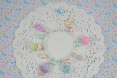 Pastel Candy  Bracelet-Sweet lolita-Women Accessories-Pastel-Kawaii-Polymer Clay-Polymer Clay Food on Etsy, $28.15 CAD
