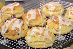 Ina Garten's Cranberry Orange Scones for Christmas (make the day before, just make the frosting drizzle on xmas day)