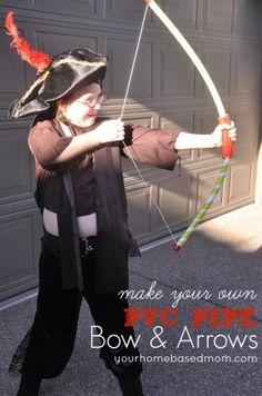PVC Pipe Bow & Arrows}Activity Day Ideas
