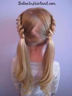 cute little girl hair; allie will look super cute like this! I used to do my hair just like it for swim practice