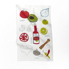 Claudia Pearson Tea Towel - Guacamole