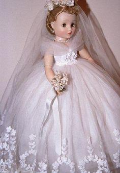 1950s Madame Alexander bride doll.