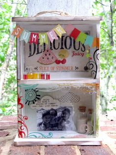 amazing summer shadowbox by Wendy Morris on the Simple Stories blog!