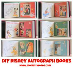 DIY Disney Autograph Book where each character has his or her own page!