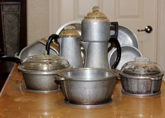 Guardian Service Ware Pot Pan Tray Coffee Maker Lid Handle Pitcher ~15 Pc Lot http://r.ebay.com/zSr7Le