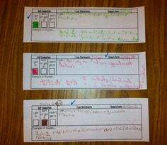 Exit Tickets for I Can Statements