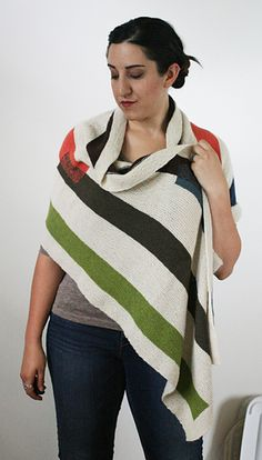 DeStijl Wrap by Miriam Felton. 2 strands of lace weight Shibui Cima held together for a cushy, drapey wrap that's perfect anytime of the year.
