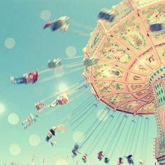 pink summer, pastels, nursery wall art, dream, carnivals, carousel, pastel colors, swing, light art