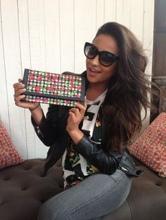 @shay Mitchell created this cool Duck Tape clutch!