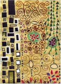 Mix this lesson with the shape painting idea to incorporate Klimt - kinder art