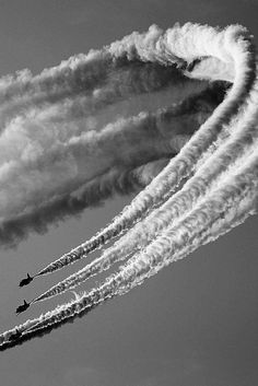Black & white photography aircraft in the air