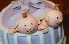 babi cake, twin shower, twin cake, shower cake, thing twin, twin babies, baby cakes, cake toppers, cake babi