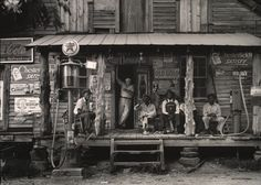 Crossroads Store, Alabama by Dorothea Lange, 1937