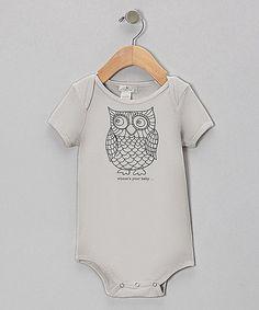 Loving this Gray Owl Bodysuit on #zulily! #zulilyfinds