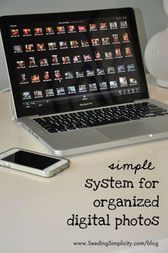 professional organizer's blog post on how to organize digital photos in 6 simple steps.