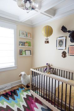 Gender Neutral Eclectic Nursery - amazing modern touches!