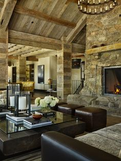 Lovely  http://alifeofbeautyandgrace.tumblr.com/post/18607920780/georgianadesign-colorado-rocky-mountain-home-by