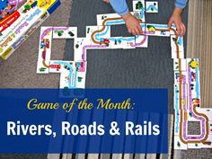 Rivers, Roads and Rails - a cooperative or competitive matching game that is Brilliant Fun for kids who love things that go.