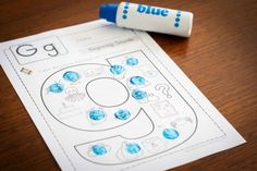 FREE Beginning Sounds Coloring page using dot paints.