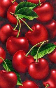 bowl, fruit, red, green, colors, bomb, art, pies, cherries