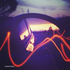"""@Blabla Car's photo: """"Amazing picture captured by one of our members! #Regram @mar guixa #picoftheday #sky #colours #car #mirror #travel #bestoftheday #BlaBlaRide"""""""