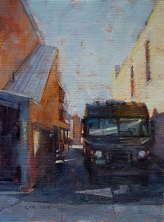 Original art for sale at UGallery.com | Alley Delivery by Danny Griego | oil painting