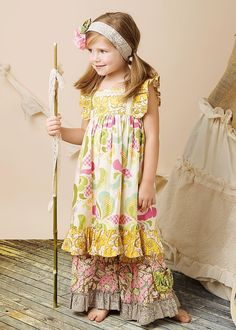 Mustard Pie Tangerine Dress - Little girls dresses