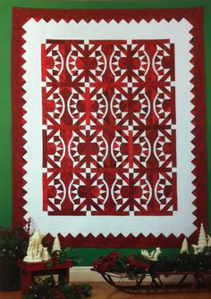 Snowberries quilt, in : More Joy to the World, Nancy Smith and Lynda Milligan, at Quilt with Marci Baker