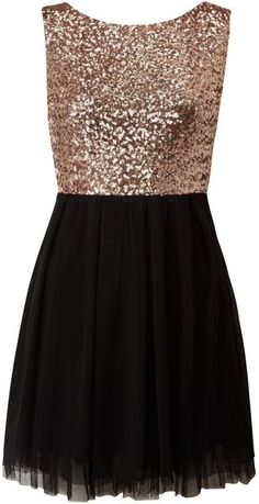 Sequin Top Dress, fun for upcoming holiday parties! | House of Fraser