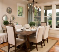 rustic dine, dining rooms, paint color, dine room, rustic table, sherwin williams softer tan, dining room design, design idea, table designs