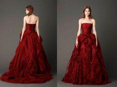 Red Wedding Dress Vera Wang