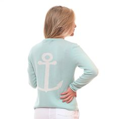Anchor Back Cashmere Sweater