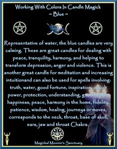 Magickal Moonie's Sanctuary  Blue Candle Blessed Be:    Magickal Moonie  Yvonne )O(    reference: www.witchesofthecraft.com  Crescent Pentacle: http://espie-whitburn-design.com/Digital.html