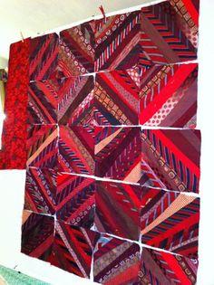 Silk tie quilt  Nikki McDonald