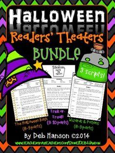 Halloween Readers' Theater BUNDLE (a set of 3 scripts) $