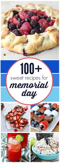 100+ Sweet Recipes for Memorial Day | www.somethingswanky.com