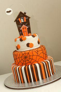 halloween cake - gorgeous colours!