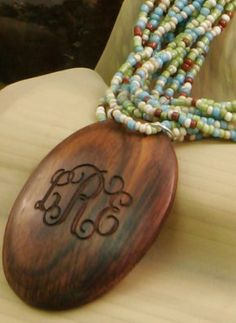 This monogramed necklace is the perfect statement piece!